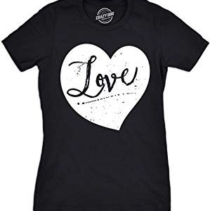 Crazy Dog Tshirts : Womens Love Heart